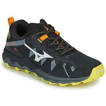 鞋子 男士 跑鞋 Mizuno 美津浓 WAVE DAICHI 4 黑色 / 橙色