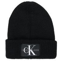 纺织配件 男士 毛线帽 Calvin Klein Jeans MONOGRAM BEANIE WL 黑色