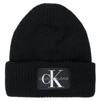 纺织配件 女士 毛线帽 Calvin Klein Jeans MONOGRAM BEANIE WL 黑色