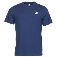 衣服 男士 短袖体恤 Nike 耐克 NIKE SPORTSWEAR CLUB 蓝色 / 白色