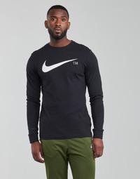 衣服 男士 长袖T恤 Nike 耐克 M NSW TEE LS GRX TEE 黑色