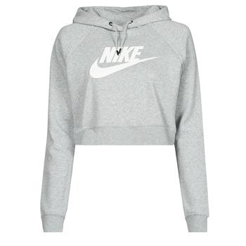 衣服 女士 卫衣 Nike 耐克 NIKE SPORTSWEAR ESSENTIAL 灰色 / 白色