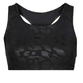 衣服 女士 文胸 Nike 耐克 W NP DF SWSH LEPARD SHINE BRA 黑色