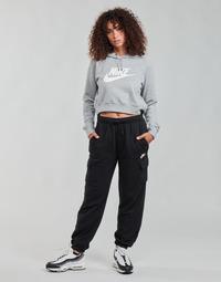 衣服 女士 厚裤子 Nike 耐克 W NSW ESSNTL FLC MR CRGO PNT 黑色 / 白色
