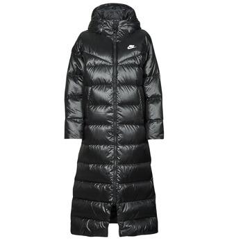 衣服 女士 羽绒服 Nike 耐克 W NSW TF CITY HD PARKA 黑色 / 白色