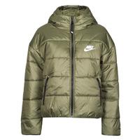 衣服 女士 羽绒服 Nike 耐克 W NSW TF RPL CLASSIC HD JKT 卡其色 / 白色