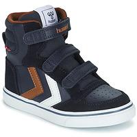 鞋子 儿童 高帮鞋 Hummel STADIL PRO JR 蓝色 / 棕色