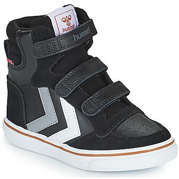 鞋子 儿童 高帮鞋 Hummel STADIL PRO JR 黑色 / 灰色