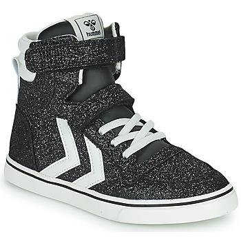 鞋子 儿童 高帮鞋 Hummel SLIMMER STADIL GLITTER JR 银灰色