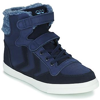 鞋子 儿童 高帮鞋 Hummel STADIL WINTER HIGH JR 蓝色