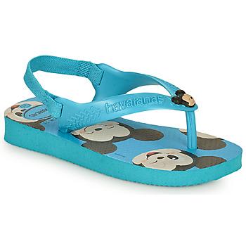 鞋子 男孩 人字拖 Havaianas 哈瓦那 BABY DISNEY CLASSICS II 蓝色