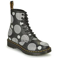 鞋子 女士 短筒靴 Dr Martens 1460 白色 / 灰色