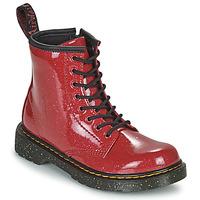 鞋子 女孩 短筒靴 Dr Martens 1460 J 红色