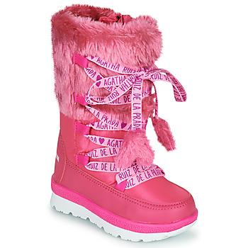 鞋子 女孩 雪地靴 Agatha Ruiz de la Prada 阿嘉莎·鲁兹·德 APRESKI 玫瑰色