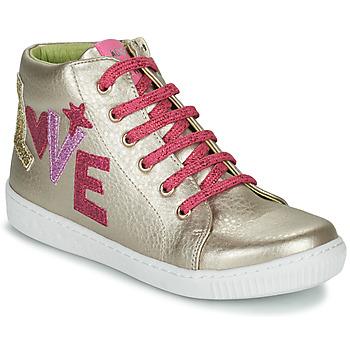 鞋子 女孩 高帮鞋 Agatha Ruiz de la Prada 阿嘉莎·鲁兹·德 FLOW 米色 / 玫瑰色