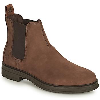 鞋子 女士 短筒靴 Timberland 添柏岚 HANNOVER HILL CHELSEA 棕色