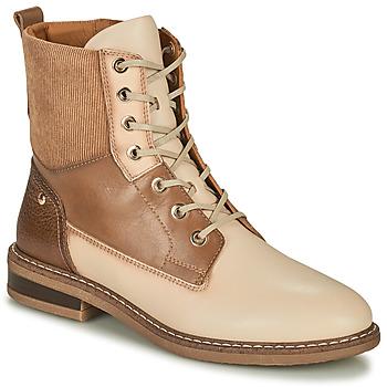 鞋子 女士 短筒靴 Pikolinos 派高雁 ALDAYA 米色