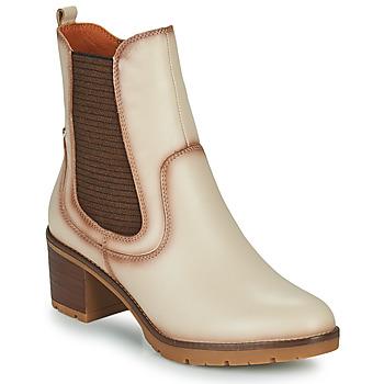 鞋子 女士 短靴 Pikolinos 派高雁 LLANES 象牙色