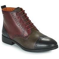 鞋子 女士 短筒靴 Pikolinos 派高雁 ROYAL 波尔多红 / 黑色 / 棕色