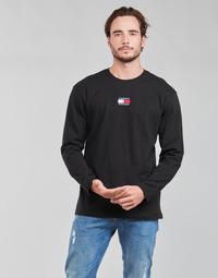 衣服 男士 长袖T恤 Tommy Jeans TJM LS TOMMY BADGE TEE 黑色