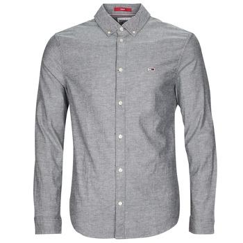 衣服 男士 长袖衬衫 Tommy Jeans TJM STRETCH OXFORD SHIRT 黑色