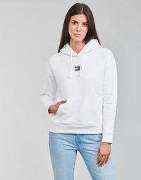 衣服 女士 卫衣 Tommy Jeans TJW TOMMY CENTER BADGE HOODIE 白色