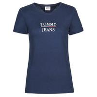 衣服 女士 短袖体恤 Tommy Jeans TJW SKINNY ESSENTIAL TOMMY T SS 海蓝色