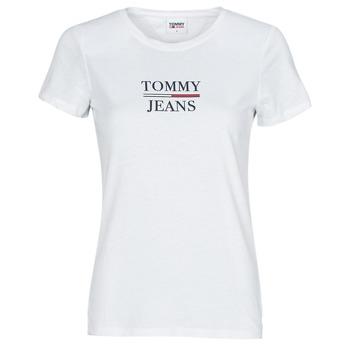衣服 女士 短袖体恤 Tommy Jeans TJW SKINNY ESSENTIAL TOMMY T SS 白色