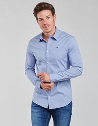 衣服 男士 长袖衬衫 Tommy Jeans TJM ORIGINAL STRETCH SHIRT 蓝色