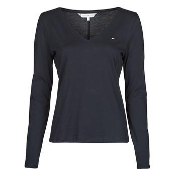 衣服 女士 长袖T恤 Tommy Hilfiger REGULAR CLASSIC V-NK TOP LS 海蓝色