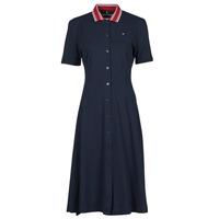 衣服 女士 短裙 Tommy Hilfiger PIQUE F&F MIDI POLO DRESS SS 海蓝色