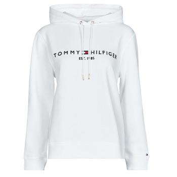 衣服 女士 卫衣 Tommy Hilfiger HERITAGE HILFIGER HOODIE LS 白色