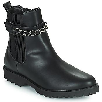 鞋子 女士 短筒靴 The Divine Factory LH2274 黑色