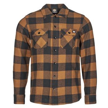 衣服 男士 长袖衬衫 Dickies 迪凯思 NEW SACRAMENTO SHIRT 驼色 / 黑色