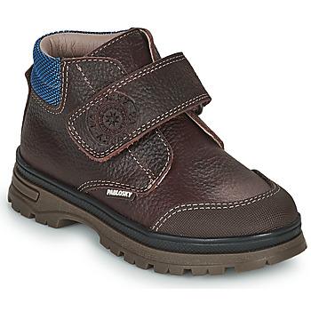 鞋子 男孩 短筒靴 Pablosky 502993 棕色