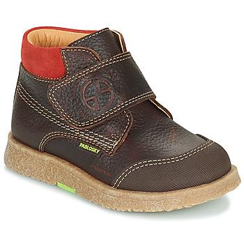 鞋子 男孩 短筒靴 Pablosky 502593 棕色