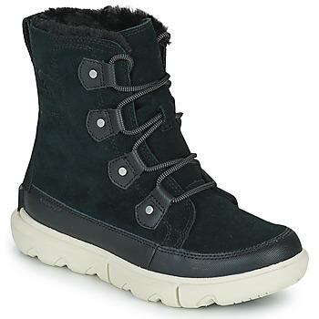 鞋子 女士 短筒靴 Sorel SOREL EXPLORER II JOAN FAUX FUR 黑色