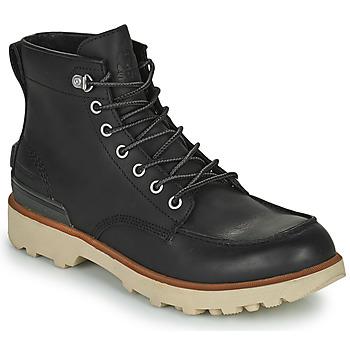 鞋子 男士 短筒靴 Sorel CARIBOU MOC WP 黑色