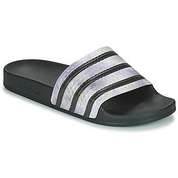 鞋子 女士 拖鞋 Adidas Originals 阿迪达斯三叶草 ADILETTE 黑色 / 银色