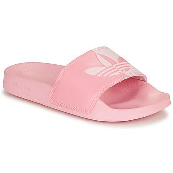 鞋子 女士 拖鞋 Adidas Originals 阿迪达斯三叶草 ADILETTE LITE W 玫瑰色