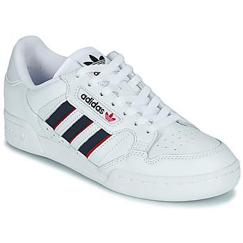 鞋子 球鞋基本款 Adidas Originals 阿迪达斯三叶草 CONTINENTAL 80 STRI 白色 / 蓝色 / 红色