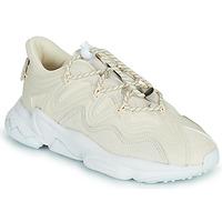 鞋子 女士 球鞋基本款 Adidas Originals 阿迪达斯三叶草 OZWEEGO PLUS W 米色