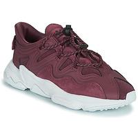 鞋子 女士 球鞋基本款 Adidas Originals 阿迪达斯三叶草 OZWEEGO PLUS W 李子色