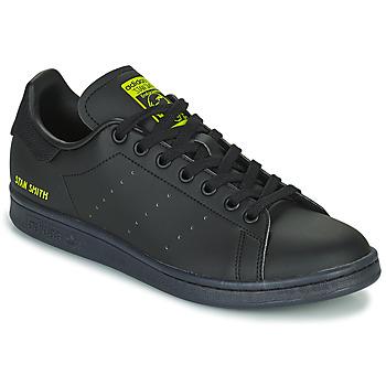 鞋子 球鞋基本款 Adidas Originals 阿迪达斯三叶草 STAN SMITH 黑色 / 黄色