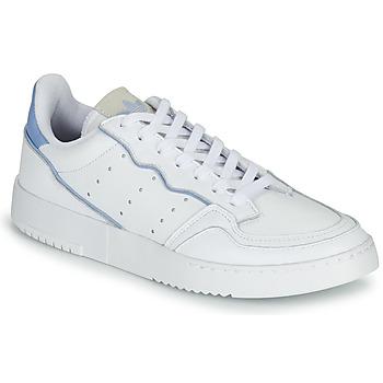 鞋子 球鞋基本款 Adidas Originals 阿迪达斯三叶草 SUPERCOURT 白色 / 蓝色
