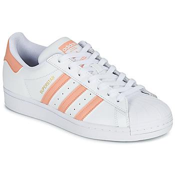 鞋子 女士 球鞋基本款 Adidas Originals 阿迪达斯三叶草 SUPERSTAR 白色 / 玫瑰色