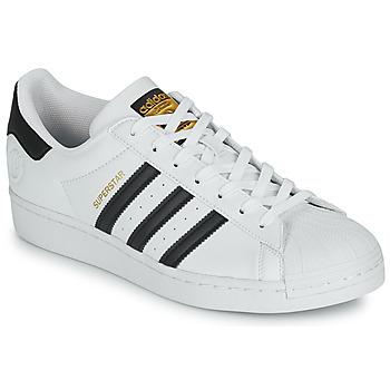 鞋子 球鞋基本款 Adidas Originals 阿迪达斯三叶草 SUPERSTAR VEGAN 白色 / 黑色