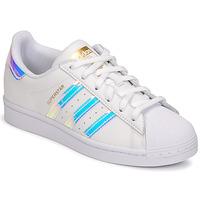 鞋子 女士 球鞋基本款 Adidas Originals 阿迪达斯三叶草 SUPERSTAR W 白色 /  iridescent