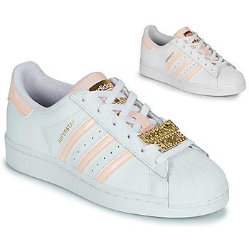 鞋子 女士 球鞋基本款 Adidas Originals 阿迪达斯三叶草 SUPERSTAR W 白色 / 玫瑰色 / 珠宝