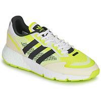鞋子 男士 球鞋基本款 Adidas Originals 阿迪达斯三叶草 ZX 1K BOOST 白色 / 黄色